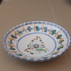 Antigüedades: PLATO ANTIGUO DE TALAVERA DE LA REINA ( TOLEDO ) FIRMADO: SASO.. Lote 190376890