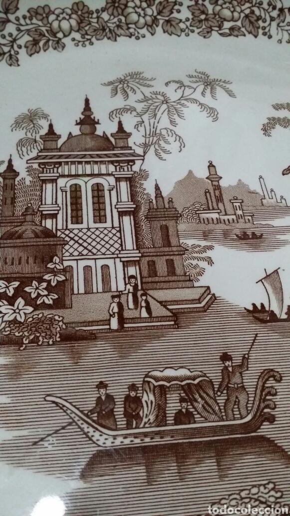 Antigüedades: Palangana La Cartuja de Sevilla Pickman - Foto 4 - 190392848