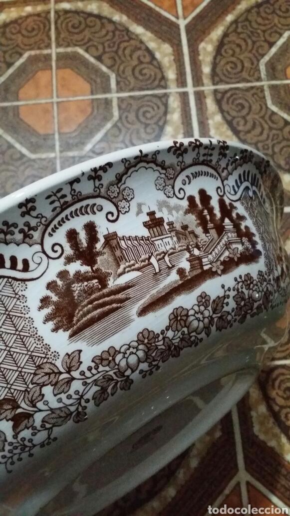 Antigüedades: Palangana La Cartuja de Sevilla Pickman - Foto 5 - 190392848