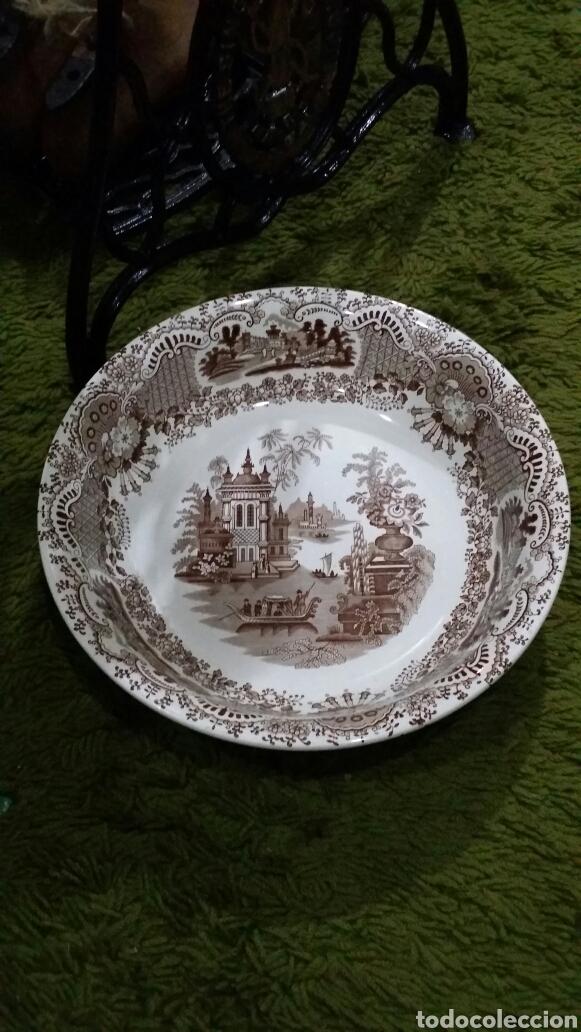 PALANGANA LA CARTUJA DE SEVILLA PICKMAN (Antigüedades - Porcelanas y Cerámicas - La Cartuja Pickman)