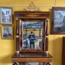 Antigüedades: ESPEJO IMPERIO. DE LOS AÑOS 1900 .. Lote 186358792