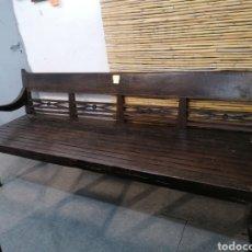Antigüedades: BANCO DE MADERA DE TEKA. Lote 190420843