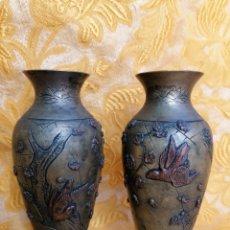 Antigüedades: PAREJA DE JARRONCITOS ORIENTALES ANTIGUOS. CHINA O JAPÓN SGL. XIX. Lote 190430838