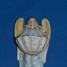 Antigüedades: (M) ANTIGUA BENDITERA S.XIX DE BISCUIT - PERFECTO ESTADO DE CONSERVACION - 10,5X6,5 CM.. Lote 190431055