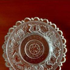 Antigüedades: PLATILLO EN CRISTAL PRENSADO. Lote 190436425