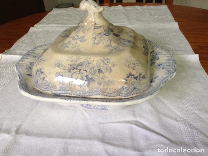 ANTIGUA LEGUMBRERA DE PORCELANA INGLESA (Antigüedades - Porcelanas y Cerámicas - Inglesa, Bristol y Otros)