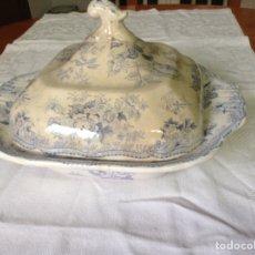 Antigüedades: ANTIGUA LEGUMBRERA DE PORCELANA INGLESA. Lote 190445443