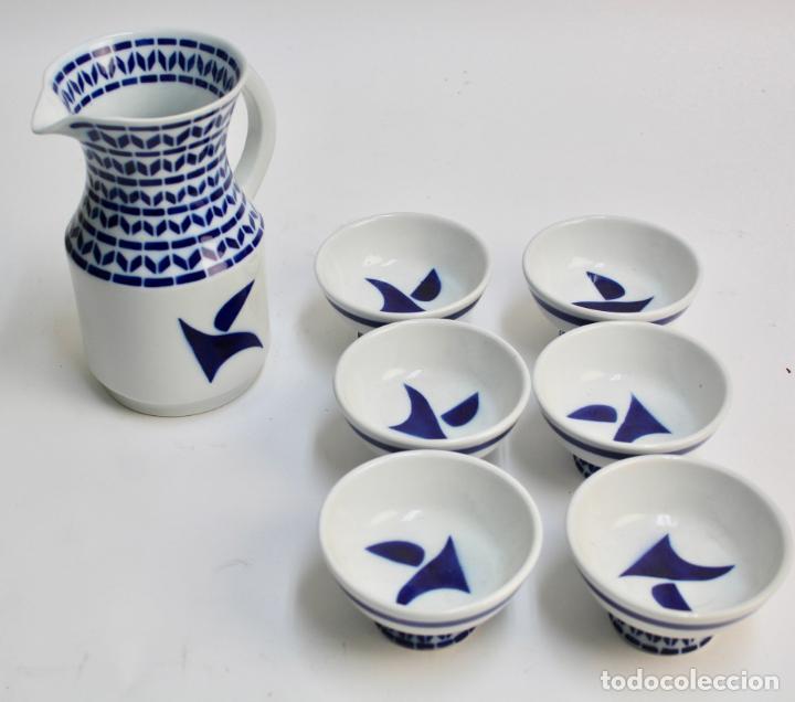 *JUEGO DE PORCELANA SARGADELOS JARRA Y BOLS. S.XX. * (Antigüedades - Porcelanas y Cerámicas - Sargadelos)