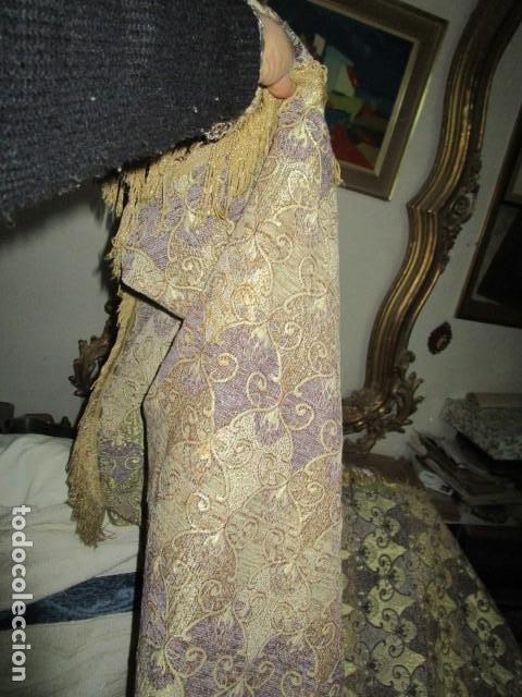 Antigüedades: ELEGANTE ANTIGUA COLCHA PARA CAMA DE 90 DORADA ADMITO OFERTAS !!!! - Foto 6 - 190504611