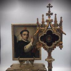 Antigüedades: GRAN RELICARIO DE SAN VICENTE FERRER. LACRADO. S.XIX. Lote 190528605