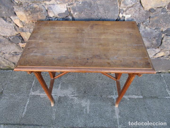 Antigüedades: Pequeña Mesa de Despacho Art Decó - Madera de Roble - 79 cm Ancho, 48,5 Fondo - Años 20 - Foto 2 - 190539062