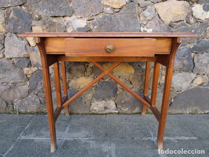 Antigüedades: Pequeña Mesa de Despacho Art Decó - Madera de Roble - 79 cm Ancho, 48,5 Fondo - Años 20 - Foto 3 - 190539062