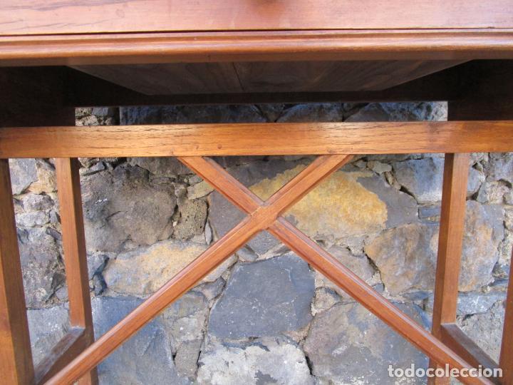 Antigüedades: Pequeña Mesa de Despacho Art Decó - Madera de Roble - 79 cm Ancho, 48,5 Fondo - Años 20 - Foto 4 - 190539062