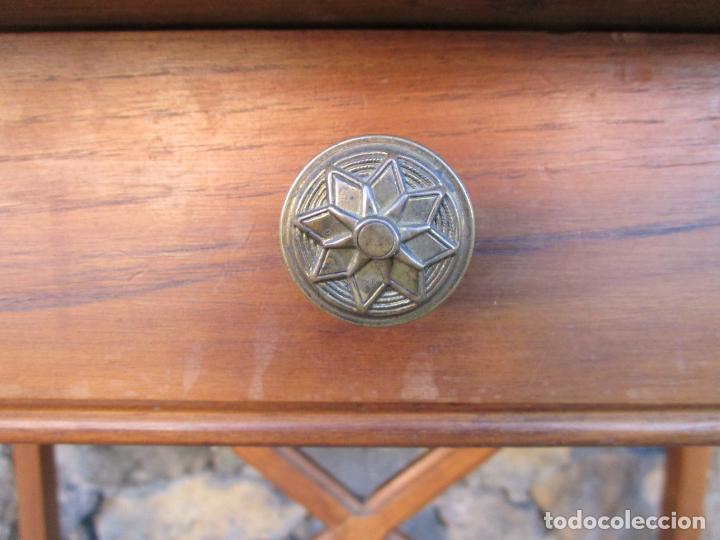 Antigüedades: Pequeña Mesa de Despacho Art Decó - Madera de Roble - 79 cm Ancho, 48,5 Fondo - Años 20 - Foto 5 - 190539062