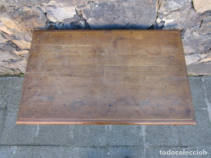 Antigüedades: Pequeña Mesa de Despacho Art Decó - Madera de Roble - 79 cm Ancho, 48,5 Fondo - Años 20 - Foto 9 - 190539062
