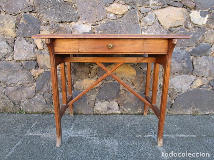 PEQUEÑA MESA DE DESPACHO ART DECÓ - MADERA DE ROBLE - 79 CM ANCHO, 48,5 FONDO - AÑOS 20 (Antigüedades - Muebles Antiguos - Mesas de Despacho Antiguos)