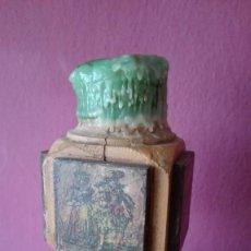 Antigüedades: PORTAVELA MADERA. Lote 190549692