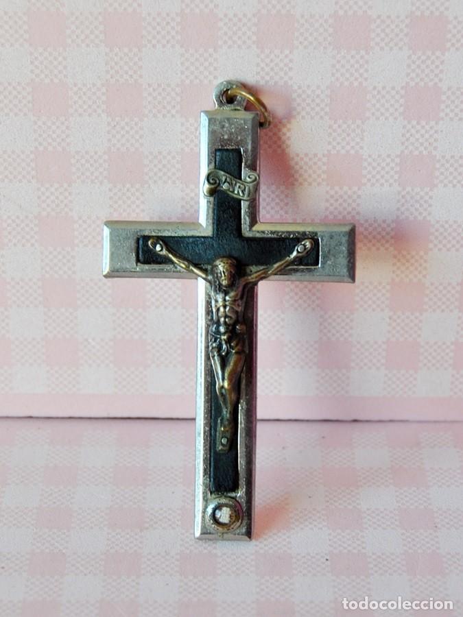 ANTIGUO CRUCIFIJO SACERDOTE (Antigüedades - Religiosas - Crucifijos Antiguos)