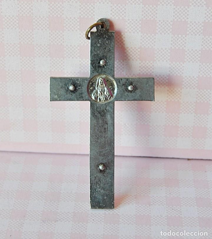 Antigüedades: Antiguo crucifijo sacerdote - Foto 2 - 190589198