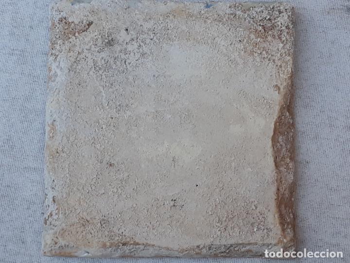 Antigüedades: AZULEJO ANTIGUO DE TALAVERA / TOLEDO - SIGLO XVII. - Foto 2 - 190594217