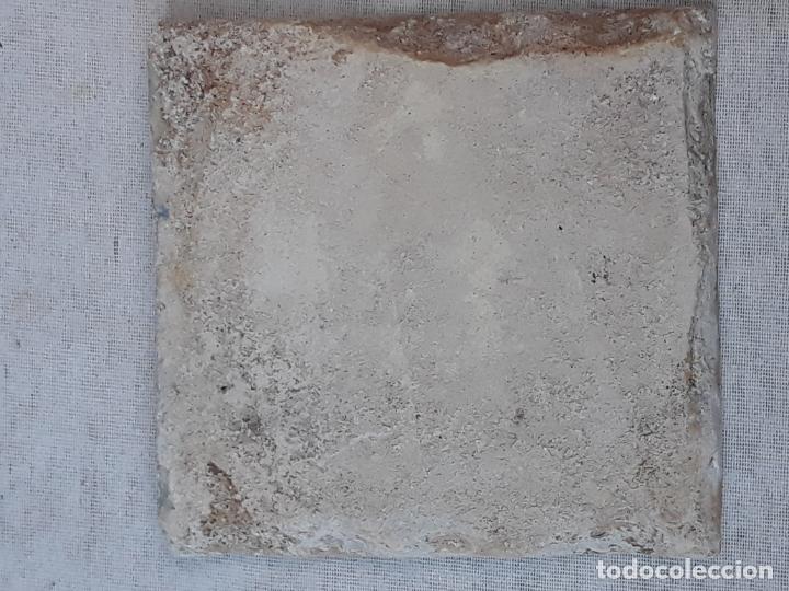 Antigüedades: AZULEJO ANTIGUO DE TALAVERA / TOLEDO - SIGLO XVII. - Foto 4 - 190594217