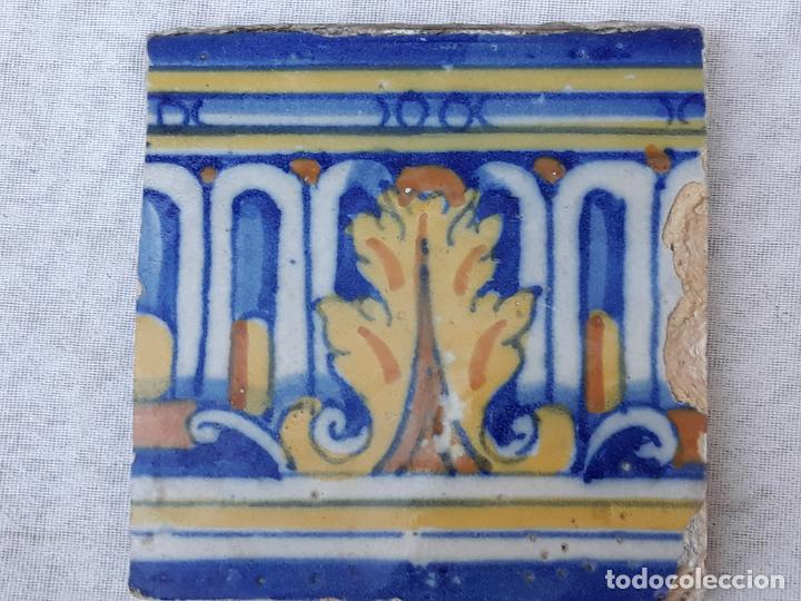 Antigüedades: AZULEJO ANTIGUO DE TALAVERA / TOLEDO - SIGLO XVII. - Foto 5 - 190594217