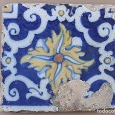 Antigüedades: AZULEJO ANTIGUO DE TALAVERA / TOLEDO - SIGLO XVII.. Lote 190595021