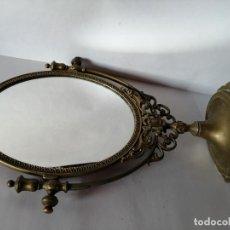 Antigüedades: ANTIGUO ESPEJO BRONCE. Lote 190601207