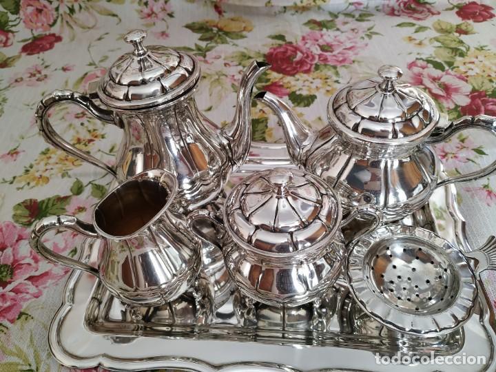 Antigüedades: Juego de café de alpaca plateada - Foto 2 - 190607973