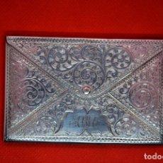 Antigüedades: PORTE CARTES DE VISITE EN ARGENT 925 . TARJETERO EN PLATA DE LEY. Lote 190621472