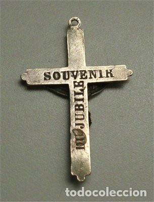 Antigüedades: Antigua cruz Souvenir du Jubile (siglo XIX) - Foto 2 - 190638185