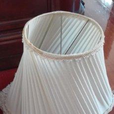 Antiguidades: PANTALLA EN TELA MUY ELABORADA. Lote 190640296