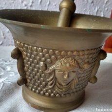 Antigüedades: ANTIGUO ( ALMIREZ DE BRONCE MACIZO LABRADO Y CON COSTILLAS ). MÁS ARTÍCULOS DE BRONCE EN MI PERFIL.. Lote 190727801
