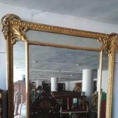 Antigüedades: ESPEJO FRANCES GRANDE PAN DE ORO SIGLO XIX. Lote 190730950