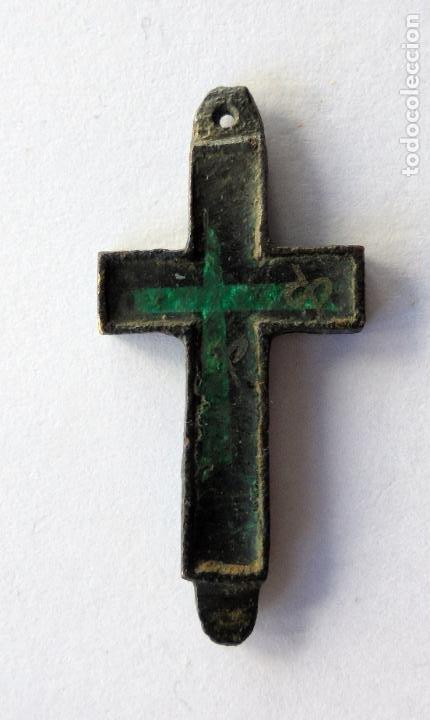 Antigüedades: Antigua cruz,crucifijo.Siglo XIX - Foto 2 - 190734812