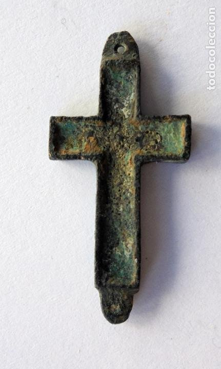 Antigüedades: Antigua cruz,crucifijo.Siglo XIX - Foto 3 - 190734812