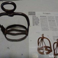 Antigüedades: ESTRIBO HIERRO FORJA SIGLO XVIII. Lote 190738430