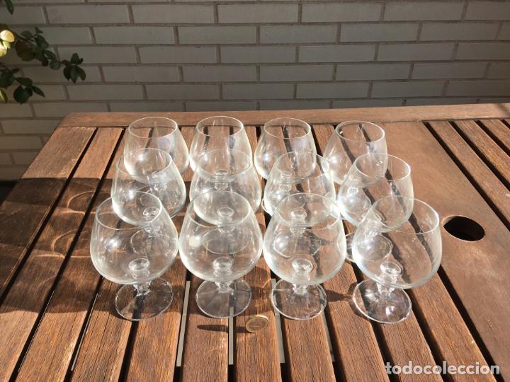 12 COPAS DE LICOR (Antigüedades - Cristal y Vidrio - Bohemia)