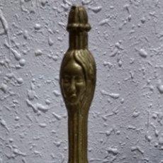 Antigüedades: ANTIGUA ( CAMPANA DE BRONCE MACIZO LABRADO ). MÁS ARTÍCULOS DE BRONCE EN MI PERFIL.. Lote 190759751