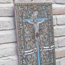 Antigüedades: AZULEJO EN CERAMICA DE ARISTA, PINTADA Y VIDRIADA - L`ALORA 2001.. Lote 190759895