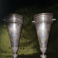 Antigüedades: PAREJA DE FLOREROS ISABELINOS. . Lote 190761871