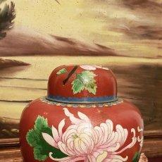 Antigüedades: TIBOR JAPONES ANTIGUO EN CLOISONE GRANDES DIMENSIONES.. Lote 190764723