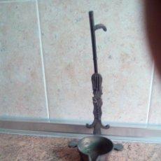 Antigüedades: LAMPARA DE BRONCE SIGLO XIX. Lote 190775996