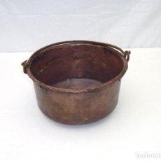 Antigüedades: ANTIGUA CALDERA DE COBRE 30 CM DE BOCA.. Lote 190783737