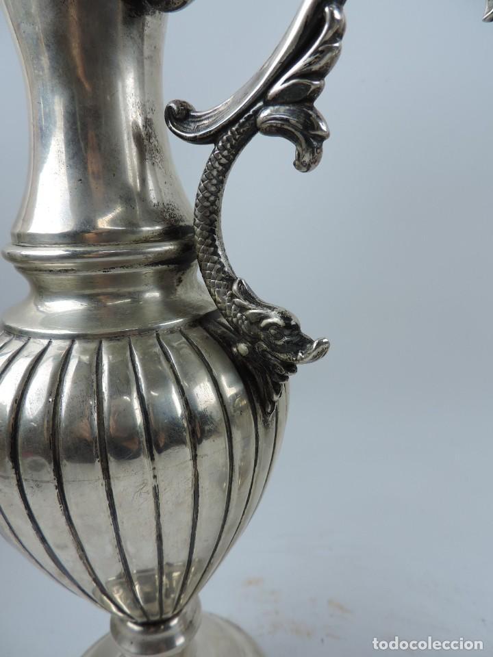 Antigüedades: PRECIOSA PAREJA DE JARRAS DE PLATA MACIZA CON EL CUÑO DE LA ESTRELLA. EL DIAMETRO DE LA BASE ES DE 1 - Foto 6 - 190794265