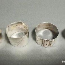 Antigüedades: SERVILLETEROS PLATA. Lote 190812002