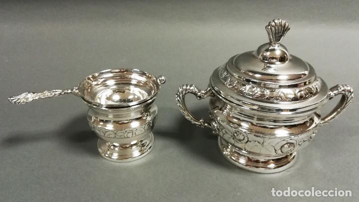 Antigüedades: JUEGO DE CAFE PLATEADO 5 PIEZAS CON BAÑO DE PLATA - Foto 6 - 190822735