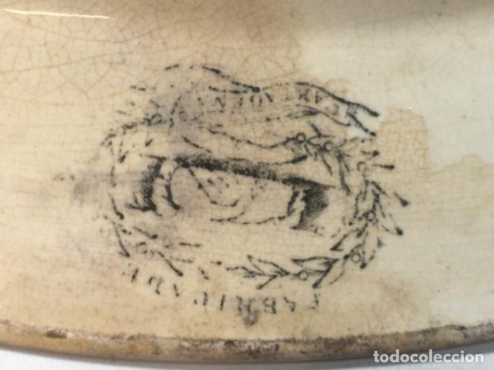Antigüedades: Bandeja la amistad Cartagena Murcia original siglo XIX Original antiguo, medidas fotografíadas - Foto 7 - 190823575