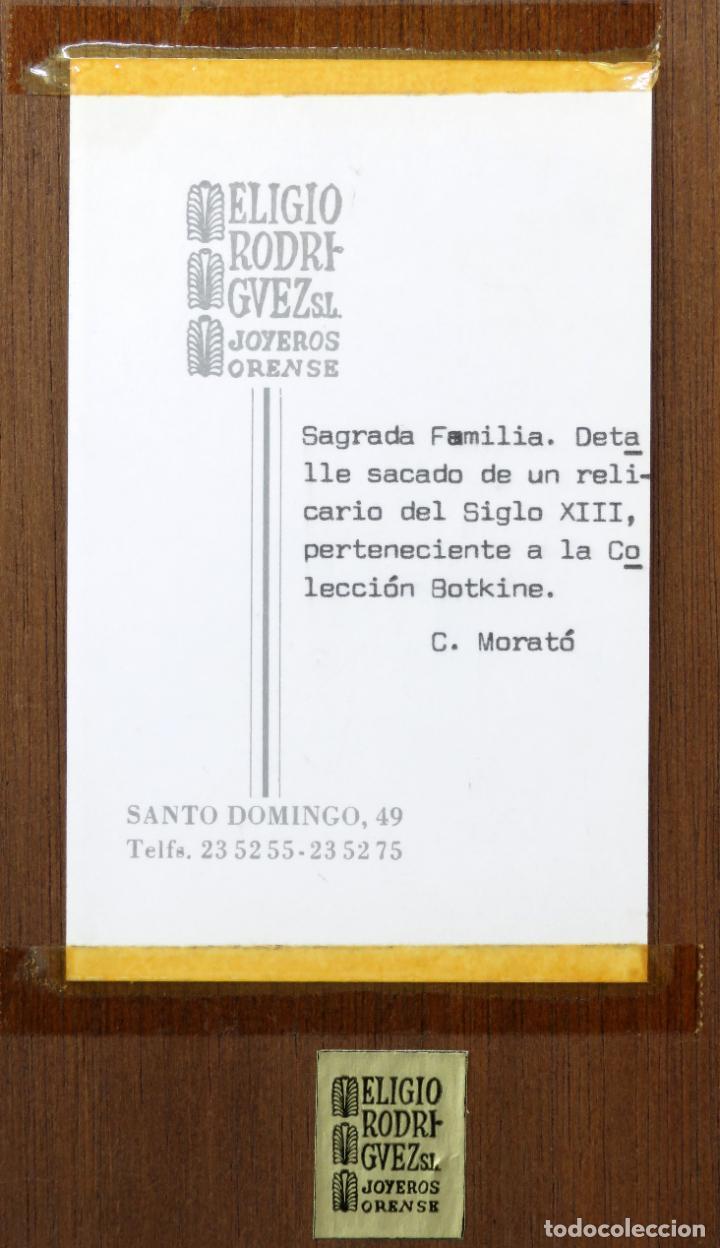 Antigüedades: Sagrada Familia de estilo románico en bronce esmaltado al fuego Modest Morato siglo XX - Foto 4 - 241048690