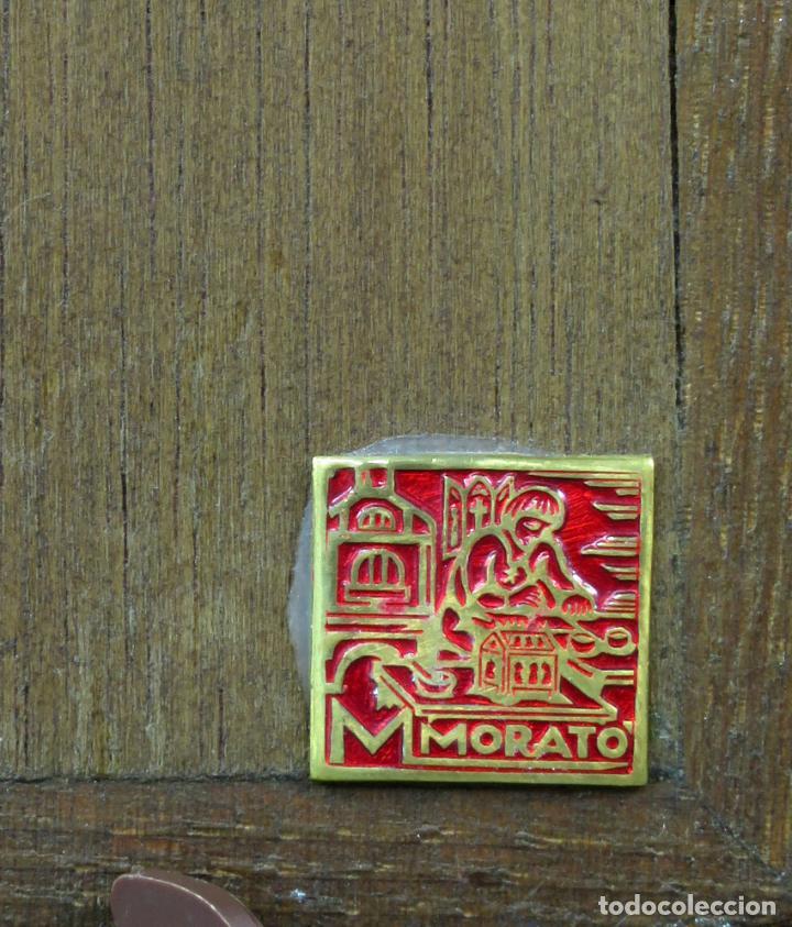 Antigüedades: Sagrada Familia de estilo románico en bronce esmaltado al fuego Modest Morato siglo XX - Foto 5 - 241048690